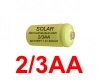 2/3AA Rechargeable Solar Light Batteries