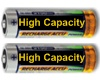 High Capacity Rechargeable Batteries