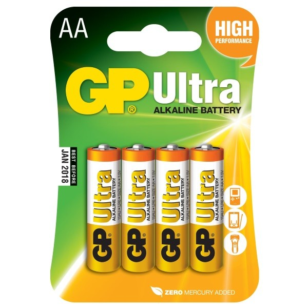GP Ultra AA batteries
